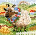 クロスステッチ 刺繍キット RIOLIS 牧場の子羊 The Farm Lamb 見やすい大きめステッチ(1センチに4目) メール便(ゆうパケット)送料無料 極...