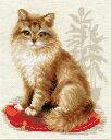 クロスステッチ 刺繍キット RIOLIS ペットキャット Pet Cat 猫 見やすい大きめステッチ(1センチに4目) メール便(ゆうパケット)送料無料 極細毛...