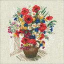メール便(ゆうパケット)送料無料 クロスステッチ 刺繍キット RIOLIS 夏の花とポピー Summer Flowers & Poppies