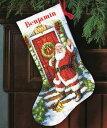 クロスステッチ 刺繍キット Dimensions ウエルカム サンタ クリスマスの靴下 【05P28Sep16】