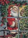 クリスマスのクロスステッチ 刺繍キット Dimensions キャンディーケイン サンタ Candy Cane Santa メール便(ゆうパケット)送料無料 デ...