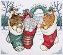 メール便送料無料 Design Works デザインワークス クロスステッチ 刺繍キット コージーキトゥン 子猫 クリスマス クロ…