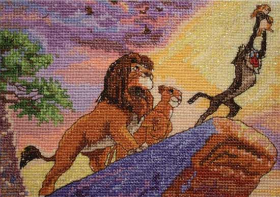 クロスステッチ 刺繍キット Disney Dreams Collection ライオンキング アメリカ製 ディズニー 輸入キット クロスステッチキット クロスステッチ ししゅう 刺繍