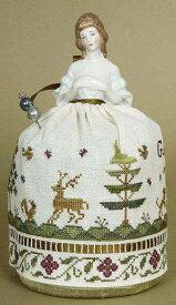 ドールピンクッションキット サンプラー ハーフドールとクロスステッチ 刺繍図案のセット *刺繍布付き* クリスマス