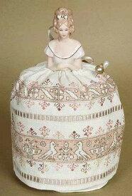 ドールピンクッションキット アッシジ ハーフドールとクロスステッチ 刺繍図案のセット *刺繍布付き*