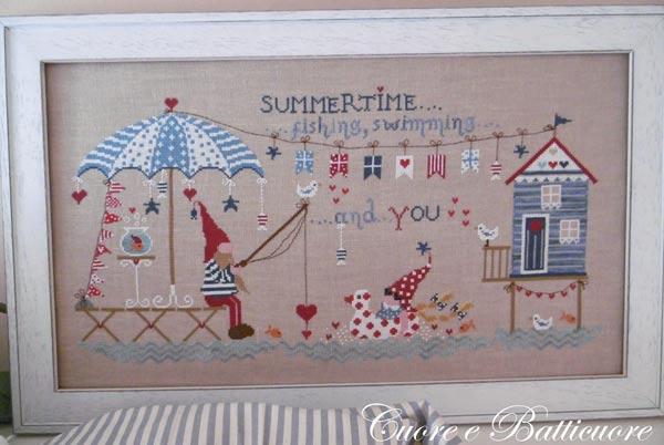 イタリアのクロスステッチ 刺繍図案 Cuore e Batticuore クオーレ エ バッティクオーレ サマータイム Summertime