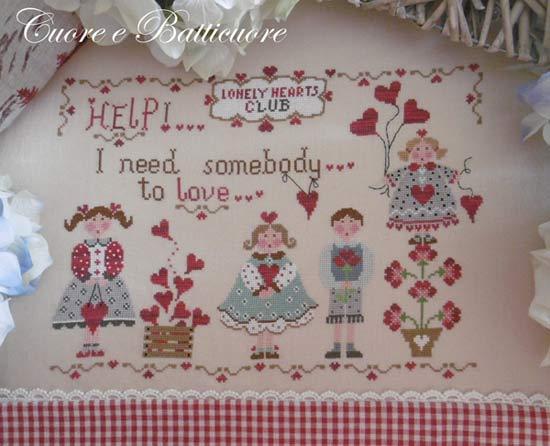 イタリアのクロスステッチ 刺繍図案 Cuore e Batticuore クオーレ エ バッティクオーレ All you Need is Love