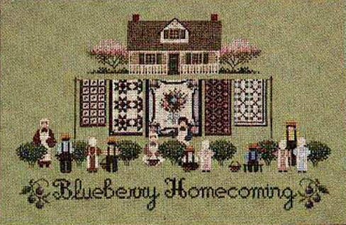 Told in a Garden クロスステッチ 刺繍図案 Blueberry Homecoming