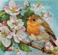 鳥のクロスステッチ刺繍キットアリサALISAロビン