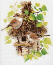 鳥のクロスステッチ 刺繍キット アリサ ALISA ワーブラー