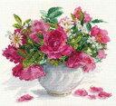 メール便送料無料 アリサ ALISA 花のクロスステッチ 刺繍キット 花咲く庭 バラとデージー クロスステッチキット クロ…