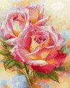 花のクロスステッチ 刺繍キット アリサ ALISA ピンクドリーム バラ