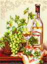 メール便送料無料 アリサ ALISA クロスステッチ 刺繍キット シャルドネ ワイン・葡萄 クロスステッチキット クロスス…