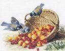 メール便送料無料 アリサ ALISA クロスステッチ 刺繍キット チッカディーとスイートチェリー 鳥 果物 クロスステッチ…