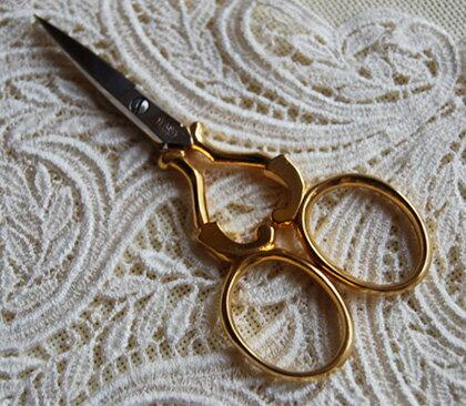 刺繍ハサミ ws104ゴールド ドイツ ゾーリンゲン製 手芸 糸切り 刺繍 鋏