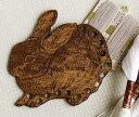 刺繍糸の仕分け・整理に便利  木製スレッド オーガナイザー ウサギ