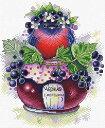 MPスタジオ/MP Studia クロスステッチ刺繍キット スグリ 14ct 小鳥 カシス ジャム瓶 クロスステッチキット ししゅう …