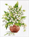 オーブン OVEN クロスステッチ刺繍キット 森の真珠16ct 花 スズラン クロスステッチキット ししゅう 刺繍