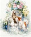 メール便送料無料 ゴールデンフリース Golden Fleece クロスステッチ刺繍キット 友情 18ct 猫 犬 クロスステッチキッ…
