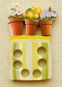 刺繍糸の仕分け・整理に便利 スレッドオーガナイザー 春の鉢植え フランス製 ハンドメイド
