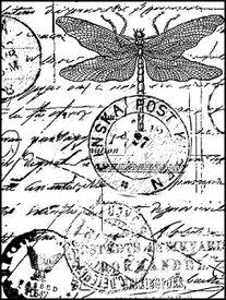 ラバースタンプ ドラゴンフライ トラベル 【アンマウント】 ラバースタンプ 輸入スタンプ アートスタンプ ゴム印・スタンプ