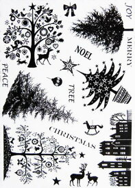 ラバースタンプ クリスマスツリー アンマウント 輸入スタンプ アートスタンプ ゴム印・スタンプ