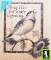 ラバースタンプSingLikeNoOtherINKADINKADO木の持ち手ウッドマウント輸入スタンプアートスタンプゴム印・スタンプ