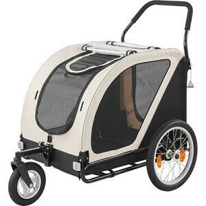 ペットカート 【Air Buggy for Dog  NEST ミルキーホワイト】 中型犬・大型犬・多頭飼い エアバギー トゥインクル
