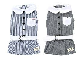 ペットウェア 【TINOTITO フレンチ丸襟シャツワンピース】XLサイズ TT18