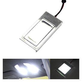 あす楽 ステルス 面発光 LEDルームランプ 41mm×21mm ホワイト ラゲッジ ルーム球 ランプ ライト 汎用