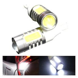 【3/4〜スーパーSALE!クーポンあり】フォレスター SJ系(H24/11〜H27/9)バックランプ対応 T16 6.5W プロジェクター LEDバルブ ホワイト ランプ ライト 汎用 左右セット