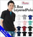 衿、袖口、裾から見えるカラーがポイントの重ね着風★ベーシックレイヤードポロシャツ!全12色×6サイズ【メール便、レターパック対応…