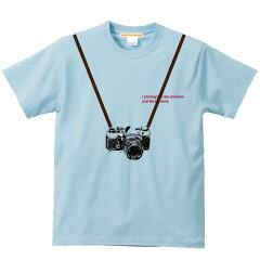 5.6ozだまし絵カメラTシャツ半袖 宇宙からバクテリアまでトロンプルイユ(騙し絵) XS~Lサイズ、メンズ・レディース、お揃い・ペアルック◎ GRACIOUSGROUND(グレイシャスグラウンド) 【メール便、レターパック対応】【auktn】