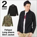 ファティーグ ロングスリーブ シャツ ジャケット 長袖   カモフラージュ & ブラック (無地)   S~Lサイズ、メンズファッション ◎   C.A...