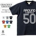 【メール便送料無料】 Tシャツ メンズ レディース お揃い ペアルック 半袖 父の日 ギフト Tシャツ 50ロゴ アラフィフ プリントサッカー…