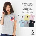 お揃い ペアルック 星条旗 プリント ポケット Tシャツ 半袖 | ビックポケット アメリカ USA 国旗 父の日 ギフト Tシャツ 5.6オンス| …