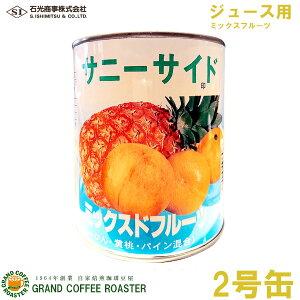 【石光商事】サニーサイド ミックスドフルーツ(ジュース用) 2号缶詰