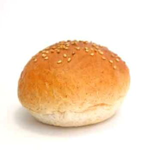 ハンバーガー用グラハムバンズ■128個■《ゴマ付》レギュラー直径10cm国産小麦・無添加【冷凍出荷】
