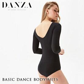 ダンス 社交ダンス DANZA ダンザ ベーシック レオタード ブラック 社交ダンスウェア 練習着 衣装 Danza by Dana Spitsyna 女性 レディース トップス モダン ラテン スタンダード XS-Mサイズ 全6色 ロシア 海外
