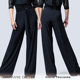 社交ダンス パンツ 練習着 Chrisanne Clover クリスアンクローバー ヴォーグ・トラウザー(2020年コレクション)(ブラック) モダン ラテン スタンダード 社交ダンス衣装 ダンス レディース 女性 XS-XL 黒 海外