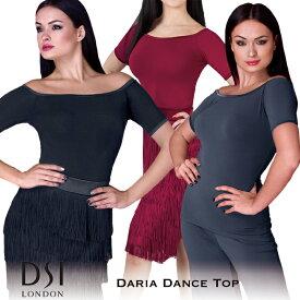 スーパーセール価格 ダンストップス DSIロンドン DSI London ダリア・ダンストップ 社交ダンス 衣装 練習着 トップス レディース ファッション 女性 XXS-L ブラック 黒 ヘマタイト グレー バーガンディ 赤 海外