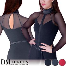 スーパーセール価格 ダンストップス DSIロンドン DSI London マリカ・ダンスレオタード 社交ダンス 衣装 練習着 トップス レオタード レディース ファッション 女性 XXS-L ブラック 黒 ヘマタイト グレー フラメンコ 赤 海外