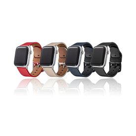 【GRAMAS】 Apple Watch バンド ブラック 本革レザー コンパチブル ビジネススタイル アップルウォッチバンド apple watch series 6/SE/5/4/3/2/1 (40/38mm) 手首周り 約150〜190mm 対応