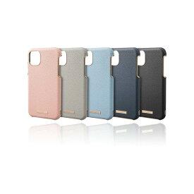 "【GRAMAS】iPhone 11ケース 6.1""インチ レザー調 背面 ""Shrink"" PU Leather Shell Case 耐衝撃 ワイヤレス充電 QI充電 カメラ保護"