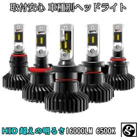 送料無料 最強発光伝説16000LM LEDヘッドライト プリウスα ZVW4# H23.05〜H26.11 H11 車種専用で簡単安心取付 新基準車検対応6500k HID超えの発光量 安価な類似品にご注意