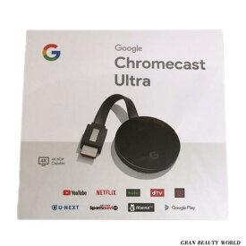 【エントリーで最大P20倍3/28 10:00から3/31 9:59まで】Google CHROMECAST ULTRA 動画再生 GA3A00416A16 4K対応 クロームキャストウルトラ Google グーグル スマートフォン 第三世代 ストリーミング クロームキャスト google