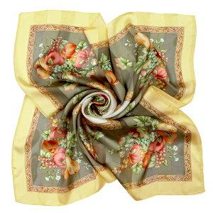 日本製スカーフシルク100%大判正方形柄レディース夏ピンク緑グリーン青ブルーホワイトデーギフトお返し母の日[メール便送料無料]