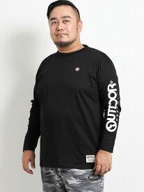 【大きいサイズ・メンズ】アウトドアプロダクツ/OUTDOOR PRODUCTS 天竺袖ロゴプリント長袖Tシャツ