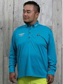 【大きいサイズ・メンズ】ルコックスポルティフ ゴルフ/le coq sportif GOLF キューブロゴジャガード長袖ポロ
