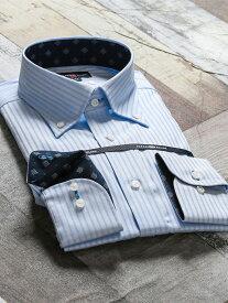 【メンズ】綿100%形態安定レギュラーフィット ボタンダウン長袖シャツ レギュラーフィット(長袖) ワイシャツ カッターシャツ